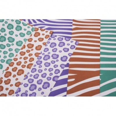 Cartulina decorativas doble faz Animal Print Verde