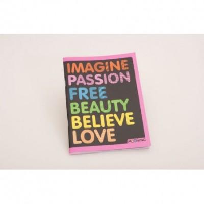 Cuaderno 16x21cm tapa flexible colors x 48 hojas rayado Mooving