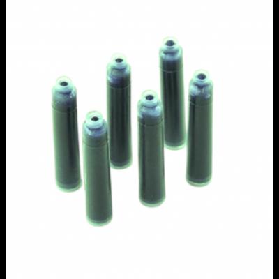 Cartucho Corto VERDE x6 unidades para pluma escolar Reynolds