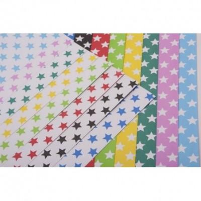 cartulinas Pinguino decorativas doble faz Estrellas Rosa