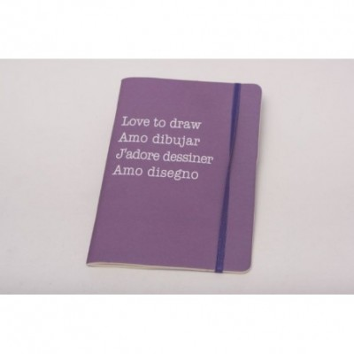 Cuaderno linea aqua c/elastico