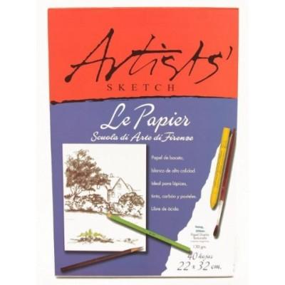 Block artists emblocado 22 x 32 cm - 130grs 30 hjs Le Papier