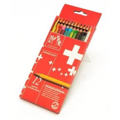 Lapiz swisscolor carton x 12 colores CD'A