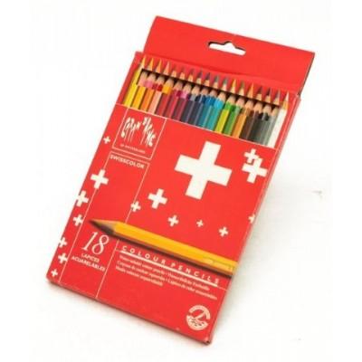 Lapiz swisscolor carton x 18 colores CD'A