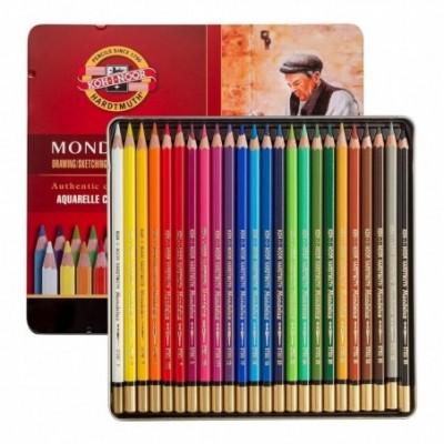 Lápices Acuarelables Mondeluz x24 colores lata Koh-I-Noor