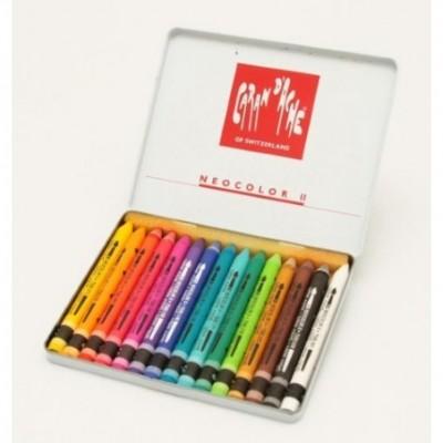 Crayon neocolor II acuarelable x 15 colores lata CD'A