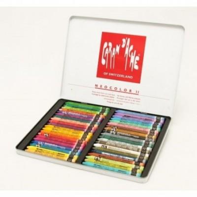 Crayon neocolor II acuarelable x 40 colores lata CD'A