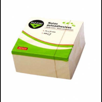 Nota adhesiva 75x75mm x400 hojas AMARILLO Pizzini