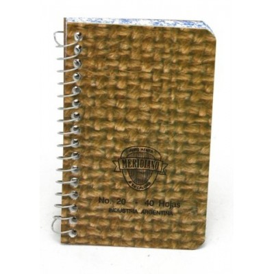 Libreta con espiral tapa blanda 6,5x10,5cm rayada x 40 hojas Meridiano