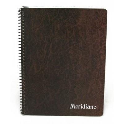 Cuaderno con espiral y señalador rayado x 50 hojas Meridiano