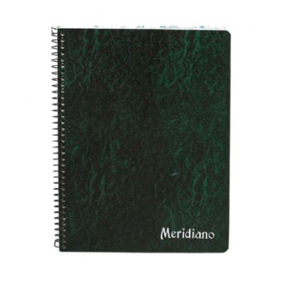 Cuaderno espiralado con indice x50 hojas reforzado Meridiano