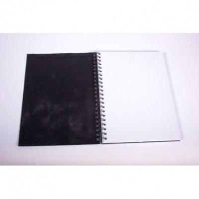 Cuaderno boceto oficio esp. Tapa Negra 120gr