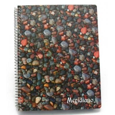 Cuaderno con indice reforzado y espiral x 200 hojas Meridiano