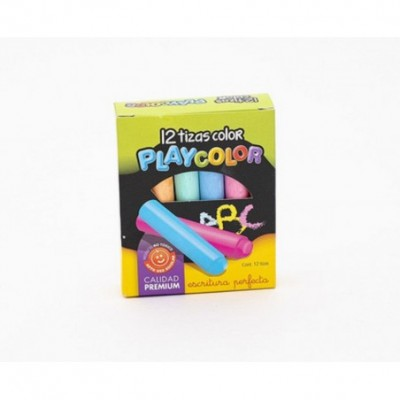 Tizas de Colores Caja x12 unidades Playcolor
