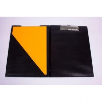 Portablock A4 de PVC con tapa y bolsillo interno Negro Liggo Trade