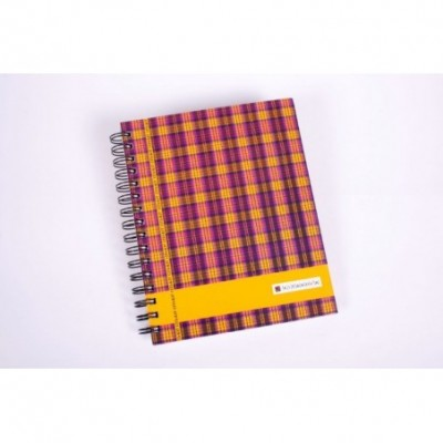 Cuaderno con esquela tapa dura Scottish x 120 hojas rayado Cita Kit