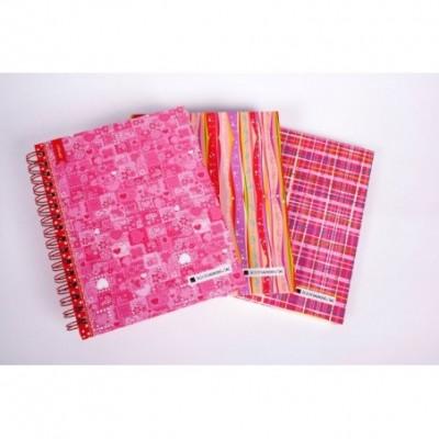 Cuaderno con esquela tapa dura Pink x 120 hojas rayado Cita Kit
