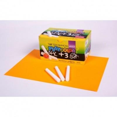 Tiza blanca x 144 unidades Playcolor