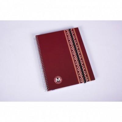 Cuaderno con espiral y señalador con elastico rayado x 100 hojas Meridiano