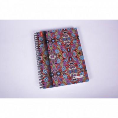 Cuaderno con espiral A4 tapa dura Mandala x 150 hojas cuadriculado Cita Kit Modelo 3