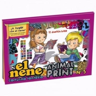 Block Nº 5 animal print El Nene