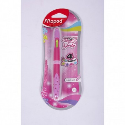 Boligrafo twin tip doble punta 4 colores fancy Maped