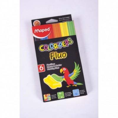 Plastilina extra soft Flúo x 6 colores Color Peps