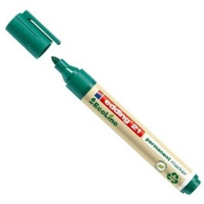 Marcador permanente ecológico recargable punta redonda Art 21 VERDE Edding