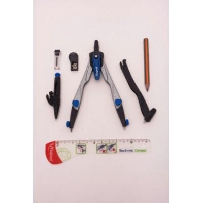 Compas technic compact estuche x 7 piezas Maped