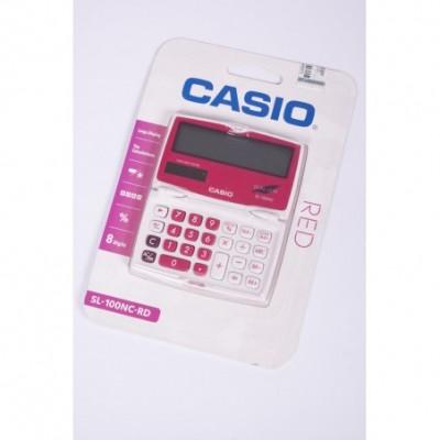 Calculadora Casio 8 digitos pantalla gde rosa