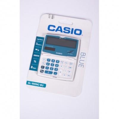 Calculadora Casio 8 digitos pantalla gde azul