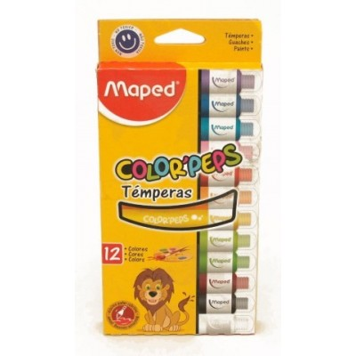 Temperas Maped colorpeps x12 Maped