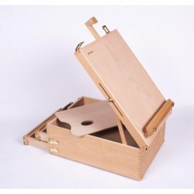 Caja con atril y 2 cajones 37,4x27,3x15 cm para canvas h/60cm Artmate