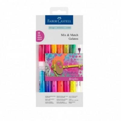 Crayones Acuarelables Gelatos x15 unidades COLORES BRILLANTES Faber-Castell