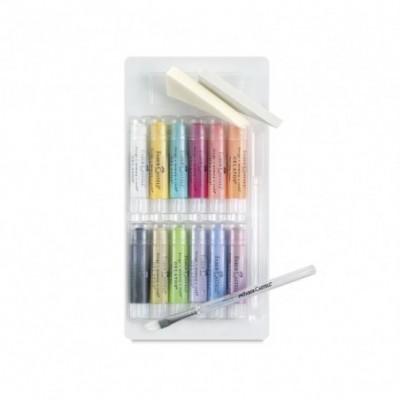 Crayones Acuarelables Gelatos x15 unidades COLORES PASTELES Faber-Castell