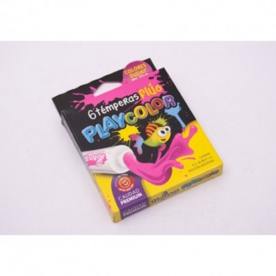 *  Tempera 8cc playcolor x 6 fluo surt. Playcolor