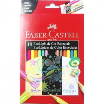 Lapices  x 18 Neon-Metalic-Pastel FABER CASTELL