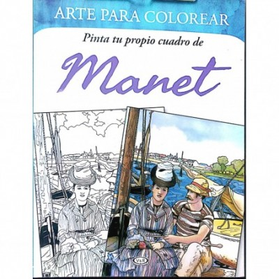 Libro para colorear obras mas famosas de MANET