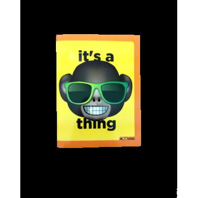 Cuaderno 16 x 21 cm con tapa flexible Emoji x 48 hojas rayado Mooving