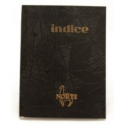 Cuaderno con indice tapa hule x 100 hojas Norte
