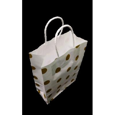 Bolsa de regalo golden dots 22 x 30 FANPACK