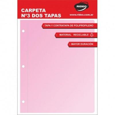 Carpeta 2 tapas n°3 pastel RIDEO