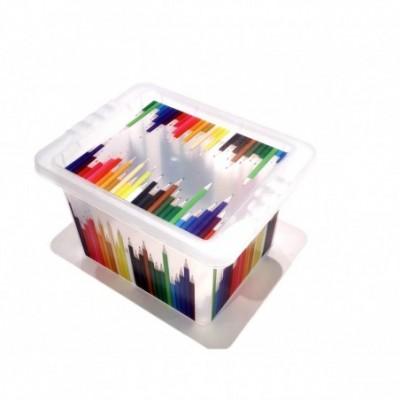 Caja organizadora 2.3 litros varios estampados LAPICES
