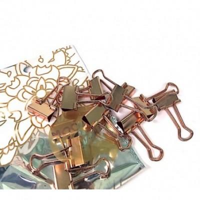 Binder Clip 19 mm Golden Rose x12 unidades Mooving
