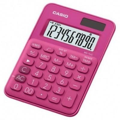 Caculadora mini escritorio 12 digitos colorfull roja CASIO