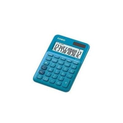 Calculadora mini de escritorio 12 digitos colorfull azul CASIO