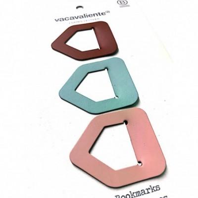 Señaladores de paginas de cuero reciclado pack por 3 VACAVALIENTE