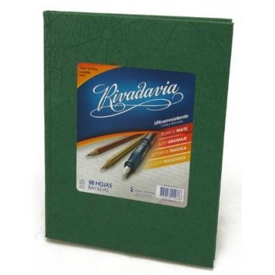 Cuaderno tapa de cartón x 98 hojas rayado verde Rivadavia