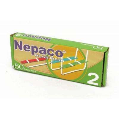 Broche Nepaco plastico x 50 unidades