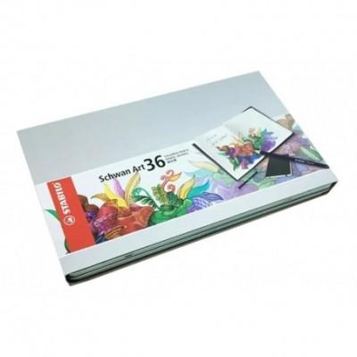 Lápices Policromados Schwan Art x36 colores surtidos lata Stabilo